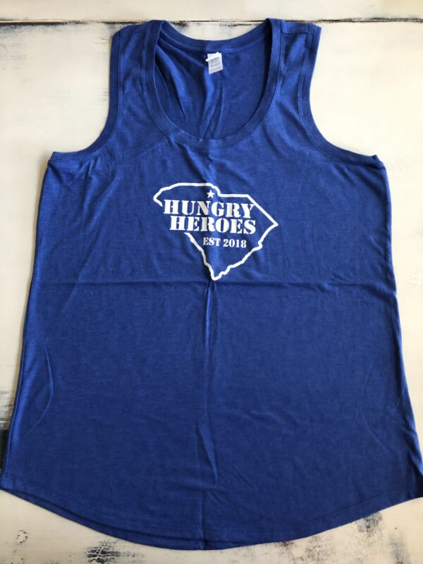 Hungry Heroes Blue Tank