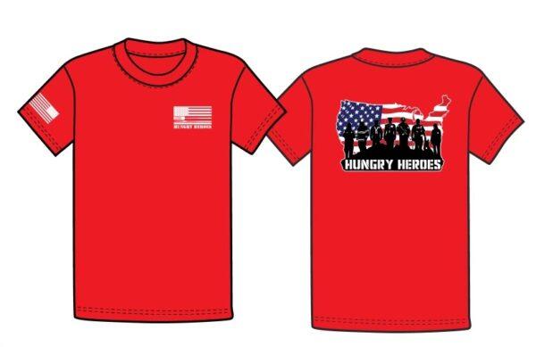 Hungry Heroes Patriotic Tee Red
