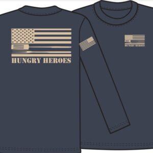 Navy + Tan Tee Hungry Heroes