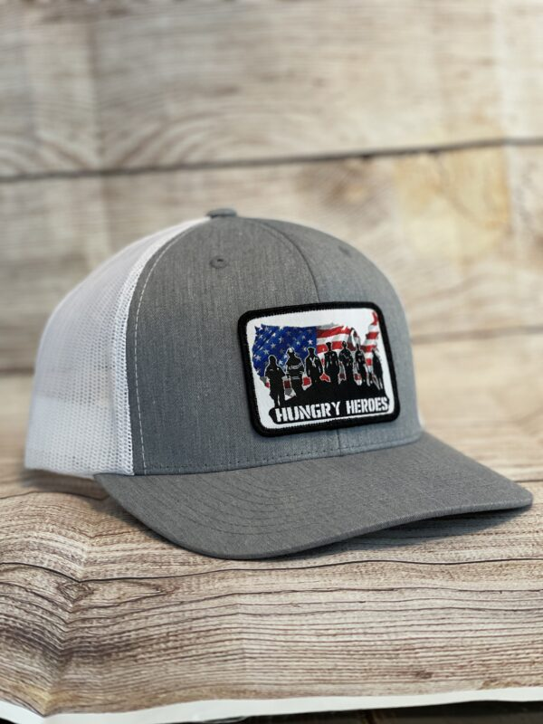 Gray Patriotic Hat