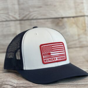 BBQ Patch Hat Black and White
