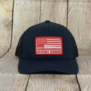 Navy Red BBQ Hat