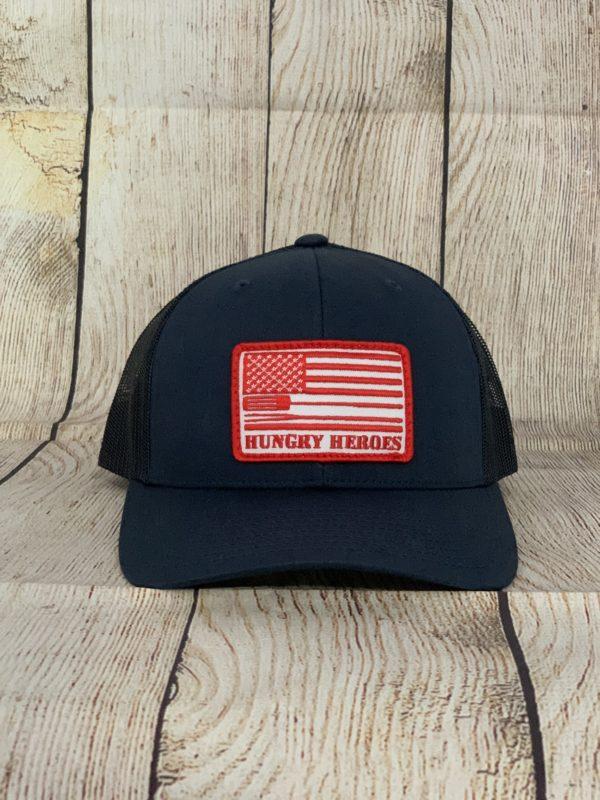 Navy Red BBQ Hat